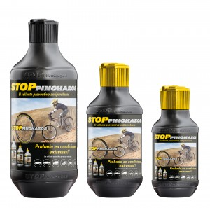 Envases Bici 300x297 Pasos para instalar el líquido antipinchazos Stop Pinchazos Bici