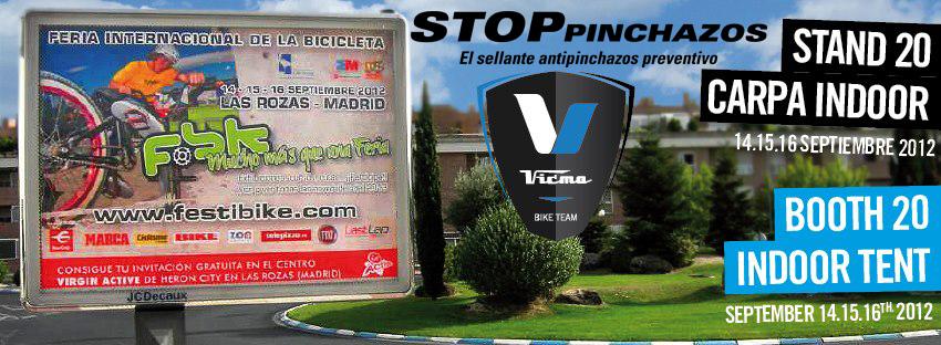 vicma y SP en festibik Stop Pinchazos en FESTIBIKE 2012